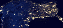 USA By Night, Original Satellite Picture - Elements Of This Image Furnished By NASA
