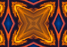 Abstract Red And Yellow Kaleidoscope