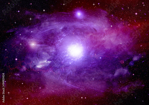 Poster Universe galaxy in a free space