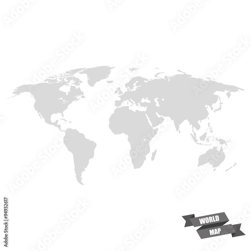 World map grey color on a white background buy this stock vector world map grey color on a white background gumiabroncs Gallery
