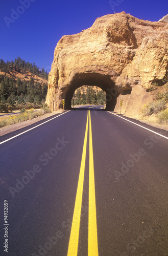The road to Bryce Canyon National Park in Utah Canvas-taulu