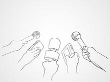 Line Art Illustration Of Journalists
