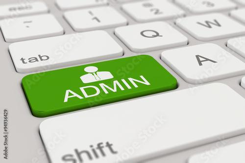 Cuadros en Lienzo Tastatur - Admin - grün