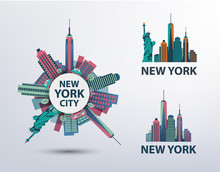 Vector Set Of NYC, New York Ci...
