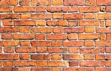Weathered Stained Old Brick Wa...