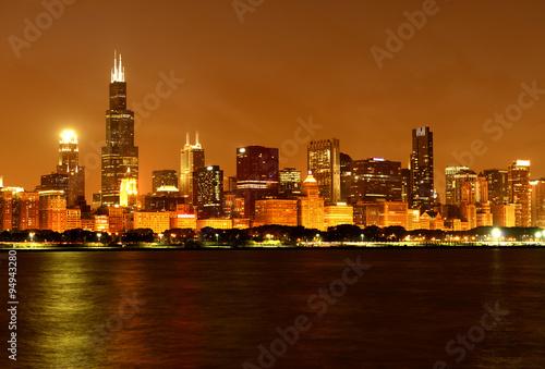 Fototapety, obrazy: Chicago skyline