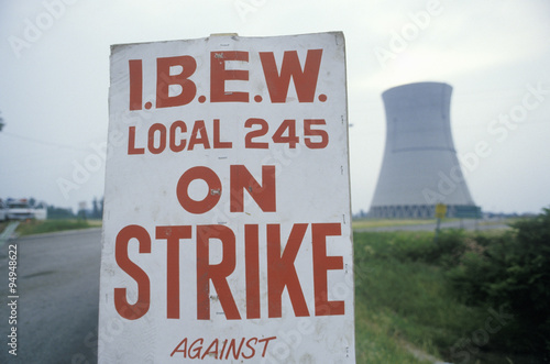Fotografie, Obraz  Strike placard at Davis-Besse Nuclear Power Station, OH