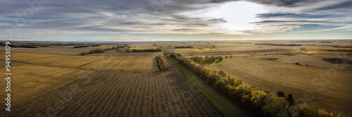 Fotobehang Grijs Autumn Crop Land