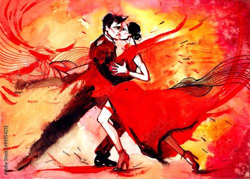 Obraz tango - fototapety do salonu