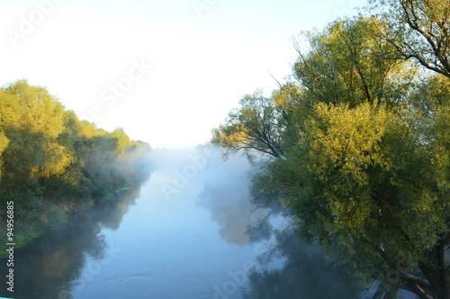 River in the fog #94956885