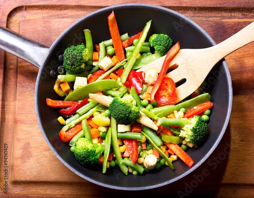 Photo  stir fried vegetables