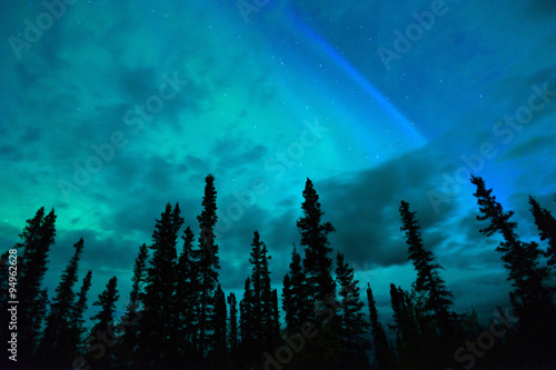 Wrangell Mountains Northern Lights Aurora Borealis Alaska Night Poster