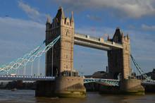 Tower Bridge Over River Thames, London
