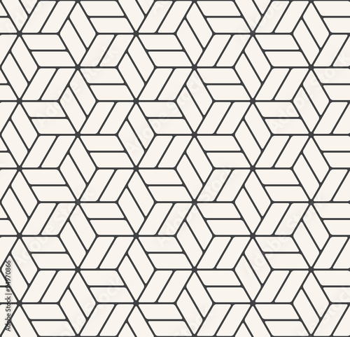 Monochrome Hexagonal Grid Pattern Buy This Stock Vector And