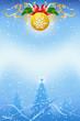 Leinwandbild Motiv Christmas background