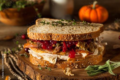 Homemade Leftover Thanksgiving Sandwich
