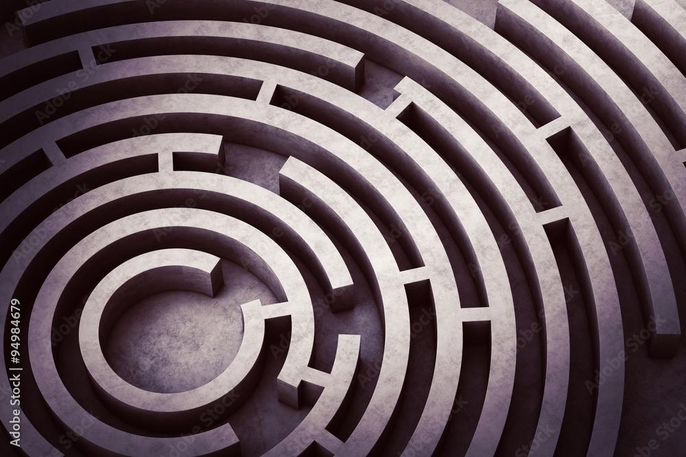 Fototapety, obrazy: Circular maze