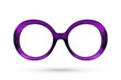 Leinwanddruck Bild Fashion purple glasses style plastic-framed isolated on white ba