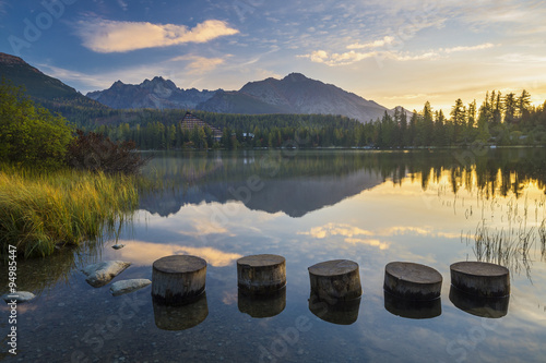 Fototapeta Strbske Pleso mountain lake obraz