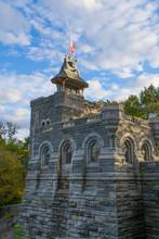 Belvedere Castle Under A Cloudy Bloue Sky