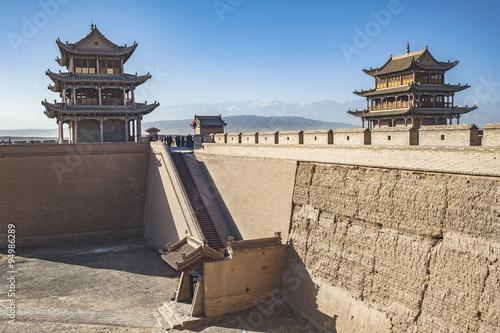 Photo sur Toile Muraille de Chine Jiayuguan Castle,Gansu of China