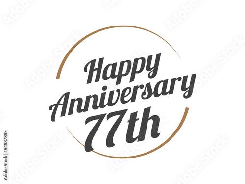 Fotografie, Obraz  77 Happy Anniversary Logo