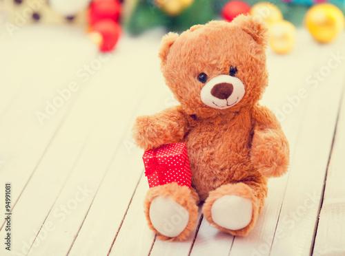Teddy bear with present #94991081
