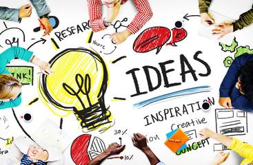 Pomysły Innowacja Kreatywność Wiedza Inspiracja Wizja Koncepcja