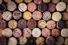 Wine Corks Background Close-up