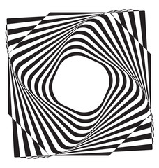 Plakat Optical illusion abstract element