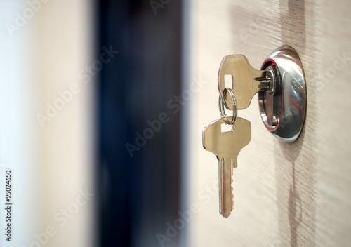 Fotografie, Obraz  keys in the keyhole