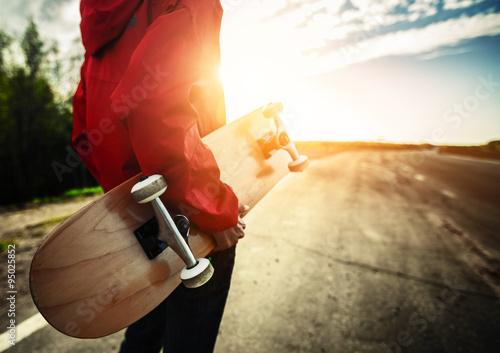 Skater on road