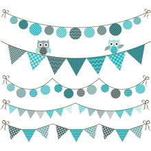 Bunting Owl Banner