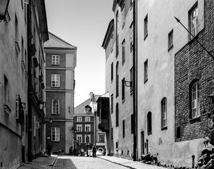 Panel Szklany Warszawa Warsaw Old Town Street