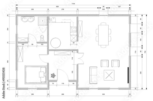 Architect plan for house construction