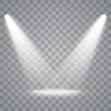 Vector Spotlights. Scene. Ligh...