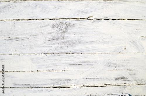Fototapeta Białe deski pomalowane gipsem obraz
