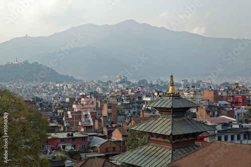 Rooftop view of Lalitpur, Kathmandu before the earthquake damaged many of the buildings in 2015