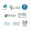 Set of logos for dental clinic