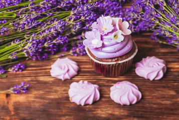 Obraz na płótnie Canvas The Lavender cakes