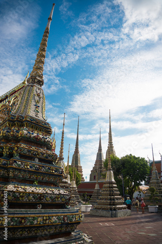 Many Pagoda in Bangkok Poster