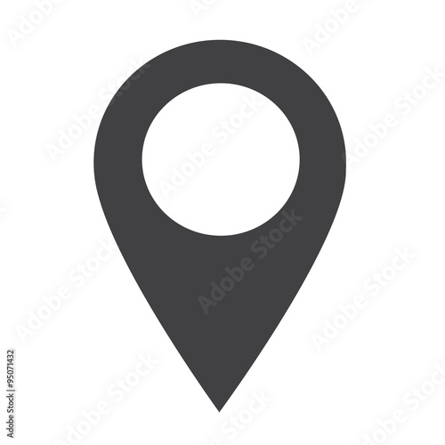 Fotomural GPS location Map pointer icon