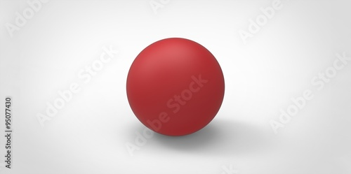 In de dag Bol Red glossy ball sphere round illustration isolated on white background