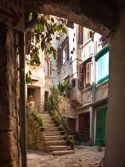 Fototapeta wąska uliczka Istria w Chorwacji