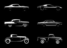 Classic Style Vehicle Silhouettes