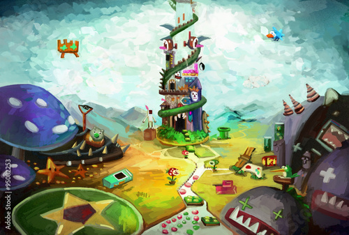 Game World - Illustration for your inner child Canvas Print