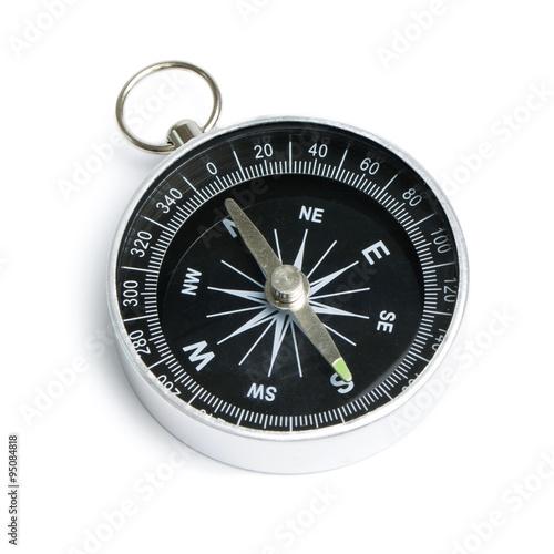 Foto  Compass auf weißem Hintergrund