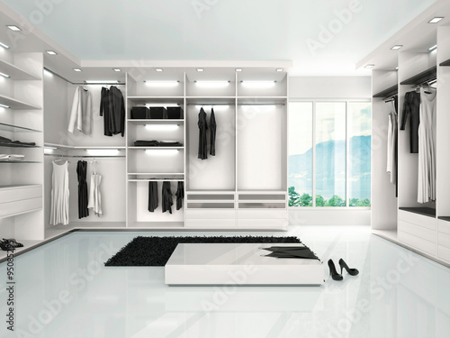 Slika na platnu 3d illustration of luxury wardrobe in modern style