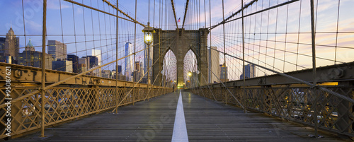 Aluminium Prints Brooklyn Bridge Panoramic view of Brooklyn Bridge