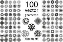 100 Set Abstract Geometric Man...